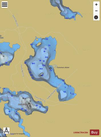 Grassy Lake Fishing Map - i-Boating App