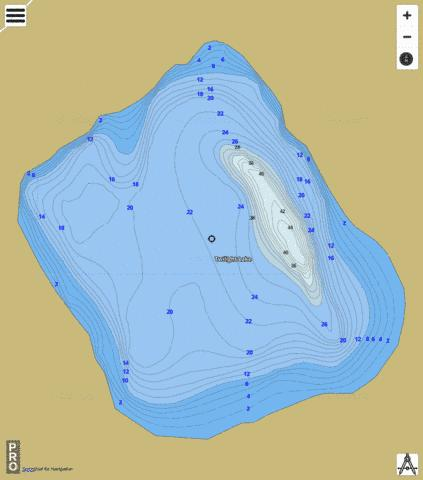 Twilight Lake Fishing Map - i-Boating App