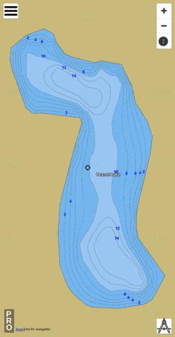Peanut Lake Fishing Map - i-Boating App