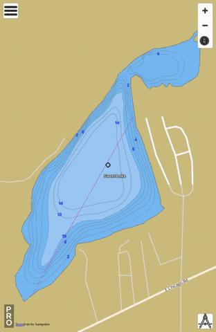 Sweet Lake Fishing Map - i-Boating App