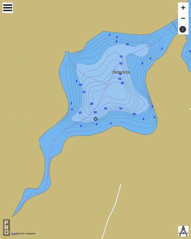 Havens Lake Fishing Map - i-Boating App