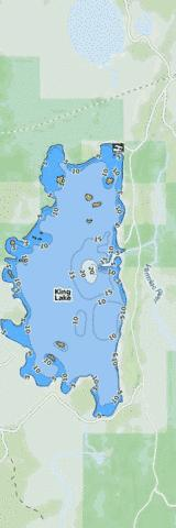 King Lake Fishing Map - i-Boating App