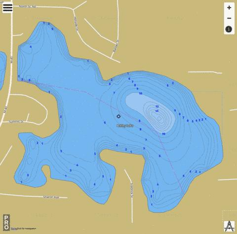 Ackley Lake Fishing Map - i-Boating App