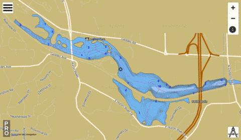 Geddes Pond Fishing Map - i-Boating App