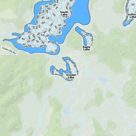Snyder Lake Fishing Map - i-Boating App