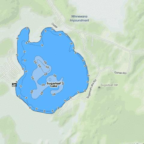 Sugarloaf Lake Fishing Map - i-Boating App