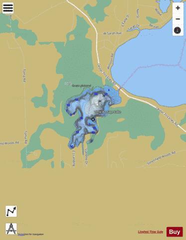 Portage Lake Michigan Map.Little Portage Lake Fishing Map Us Mi 81 72 Nautical Charts App