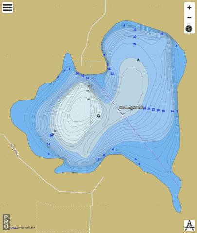 Meauwataka Lake Fishing Map - i-Boating App