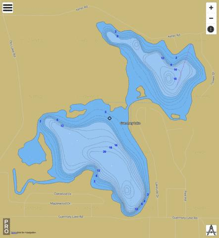 Guernsey Lake Fishing Map - i-Boating App