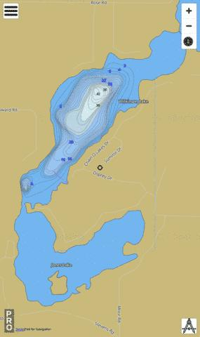 Wilkinson Lake Fishing Map - i-Boating App