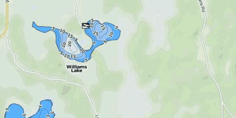 Williams Lake Fishing Map - i-Boating App