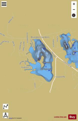 Bald Eagle Lake Fishing Map USMIoakmichbaldeaglelake