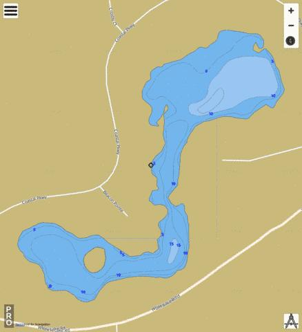 Crosby Lake Fishing Map - i-Boating App
