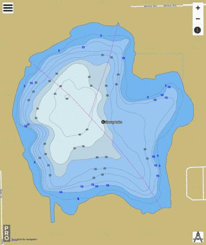 Galloway Lake Fishing Map - i-Boating App