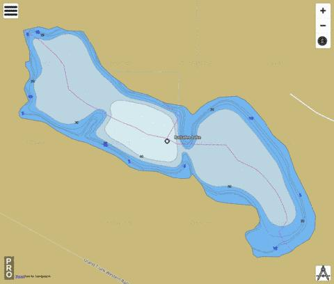 Rattalee Lake Fishing Map - i-Boating App