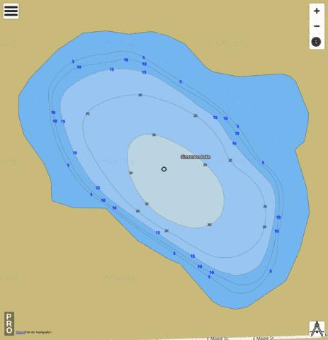 Simonson Lake Fishing Map - i-Boating App