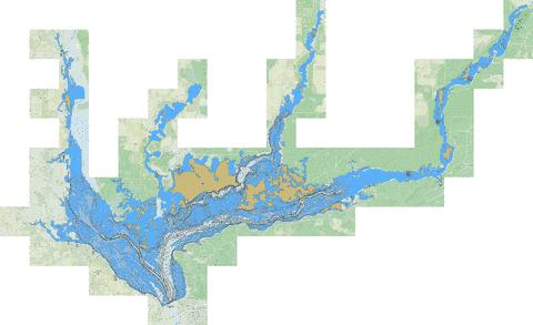 Lake seminole fishing map us mm fl 00294149 nautical for Lake seminole fishing