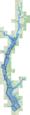 Walter f george reservoir fishing map us mm ga 00324814 for Lake chickamauga fishing map