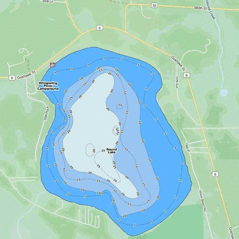 Round Fishing Map - i-Boating App
