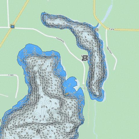 Little Ball Bluff Fishing Map - i-Boating App