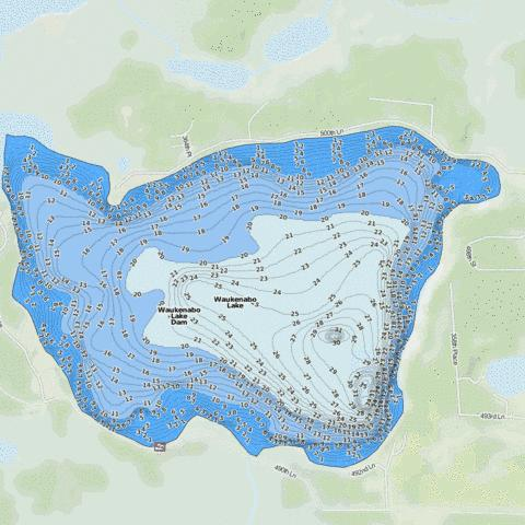 Waukenabo Fishing Map - i-Boating App