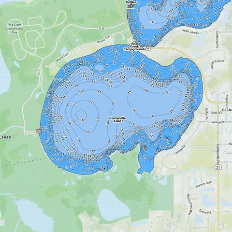 Centerville Fishing Map - i-Boating App
