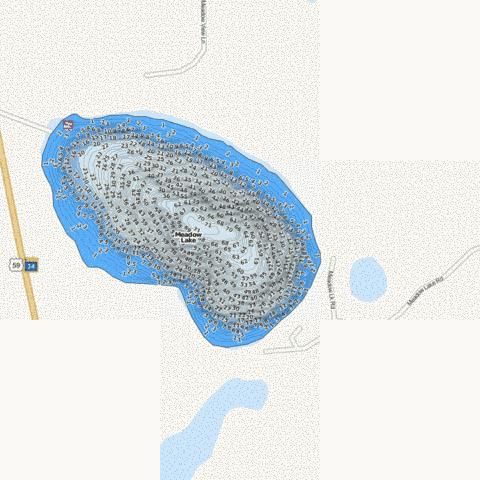 Meadow Fishing Map - i-Boating App
