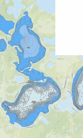Middle Cormorant Fishing Map - i-Boating App