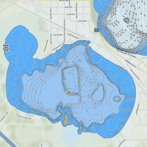 Irving Fishing Map - i-Boating App