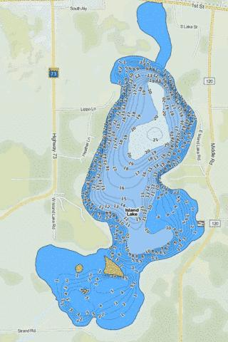Lower (South) Island Fishing Map - i-Boating App