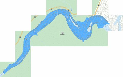 Fond du Lac Reservoir Fishing Map - i-Boating App