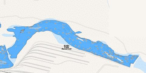Knife Falls Reservoir Fishing Map I Boating App