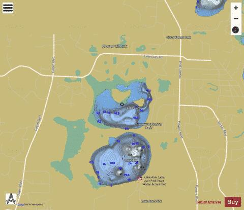 Lucy Fishing Map - i-Boating App