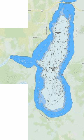 Inguadona (S. Bay) Fishing Map - i-Boating App