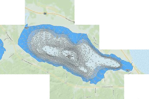 Leech (Kabekona Bay) Fishing Map - i-Boating App