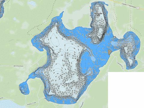 Blackwater Fishing Map - i-Boating App