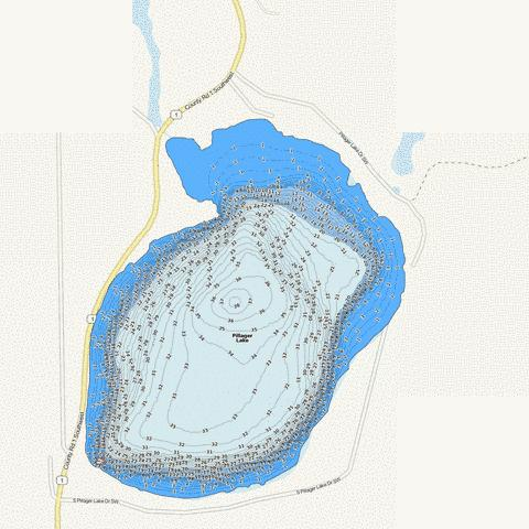 Pillager Fishing Map - i-Boating App