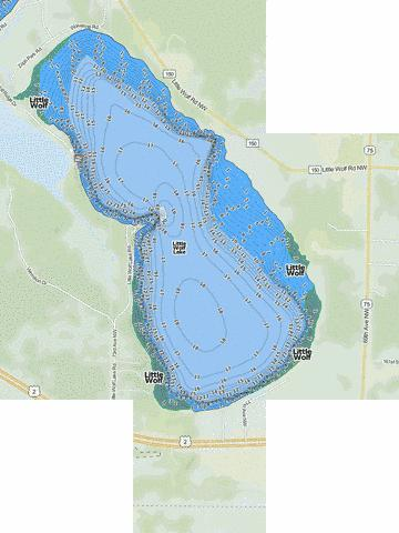 Little Wolf Fishing Map - i-Boating App