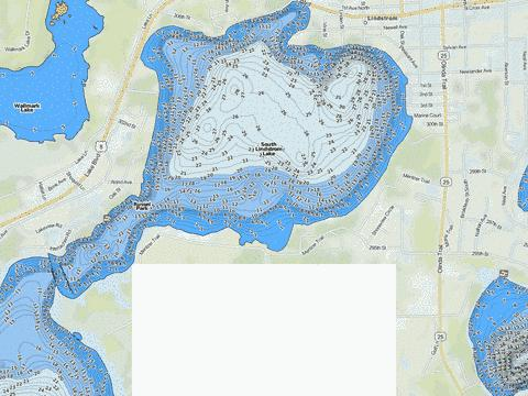 South Lindstrom Fishing Map USMN Nautical Charts App - 1300 us map