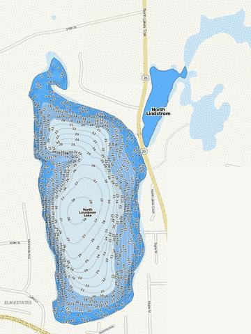 North Lindstrom Fishing Map - i-Boating App
