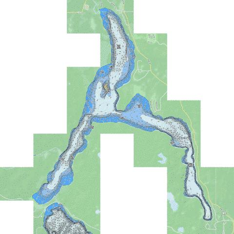Itasca Fishing Map - i-Boating App
