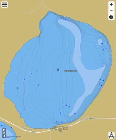 Upper Rice Fishing Map - i-Boating App