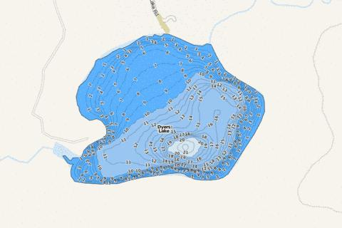 Dyers Fishing Map - i-Boating App