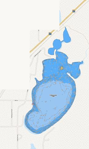 Cottonwood Fishing Map - i-Boating App