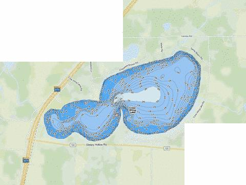 Crow Wing Fishing Map - i-Boating App