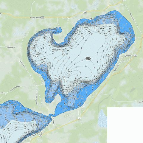 Upper Mission Fishing Map - i-Boating App