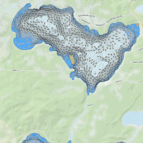 Mitchell Fishing Map - i-Boating App