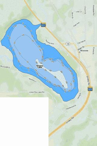 Nisswa Fishing Map - i-Boating App