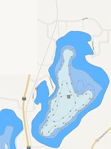 East Twin Fishing Map - i-Boating App