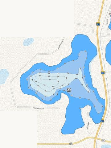West Twin Fishing Map - i-Boating App